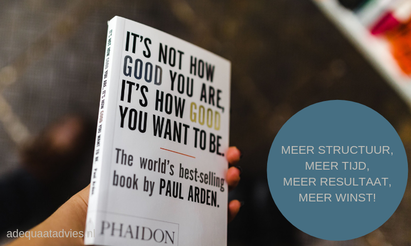 Afbeelding met boek It's not how good you are, it's how good you want to be