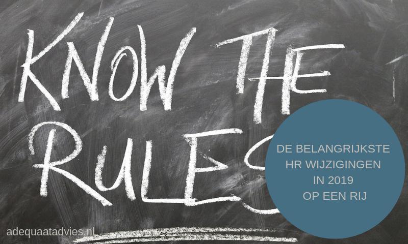 Ken de regels - wet en regelgeving HR 2019